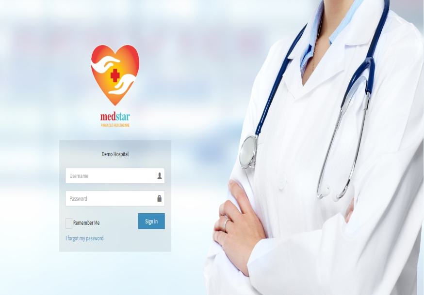 web based hospital management system demo